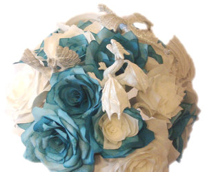 silk bouquet, fake flower bouquet, and fantasy themed bouquet image