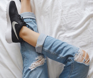 black, denim, and jeans image