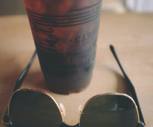 coffee, summer, and sunglasses image