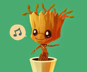 groot, wallpaper, and guardians of the galaxy image