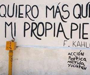 frases, Frida, and accion poetica image