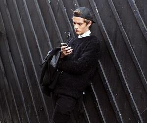 fashion, boy, and black image