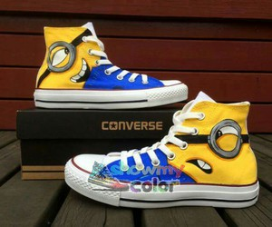 minions and hand painted shoes image
