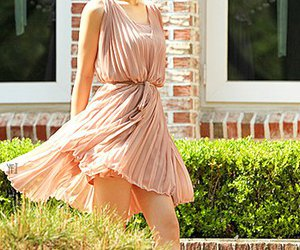 dress, wind, and fresh image