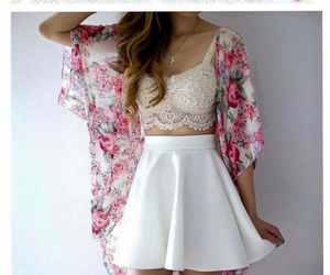 floral, lace, and skirt image