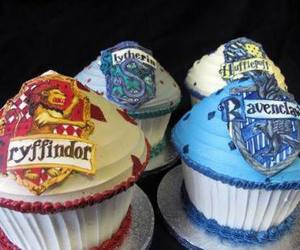 cupcake, harry potter, and ravenclaw image