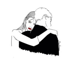 couple, art, and sara herranz image