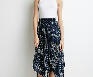 dark blue, f21, and mid skirt image