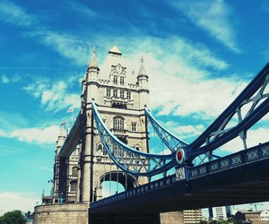 holiday, london, and tower bridge image