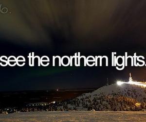 northern lights, light, and bucket list image