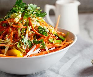 Chicken, salad, and thai image