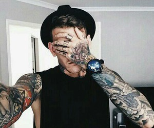 arm tattoo, guy, and ink image