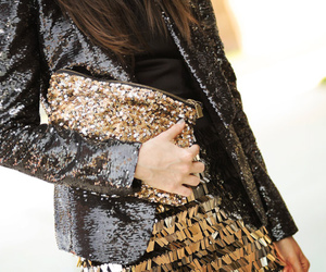 fashion, glitter, and gold image