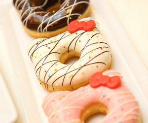 food, donuts, and hello kitty image