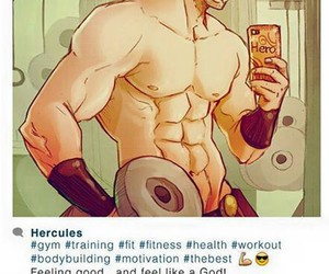 gym, Zeus, and instagram image
