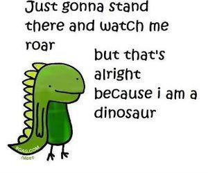 dinosaur, roar, and funny image