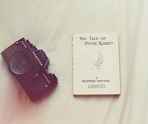 camera, Peter Rabbit, and tale image