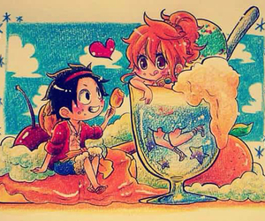 luna, one piece, and luffy image