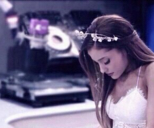 pretty, white, and ariana grande image