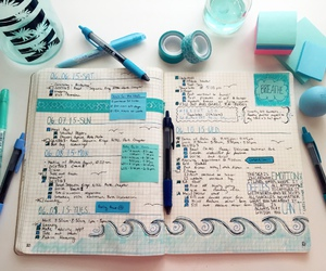 notes and color-coordinated image