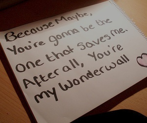 wonderwall, oasis, and Lyrics image