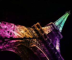 paris, eiffel tower, and colorful image