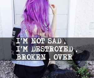 broken, cry, and destroyed image