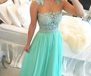 dress, Prom, and style image