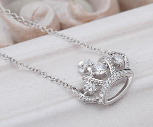 crown, diamond, and necklace image