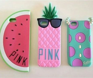 pink, pineapple, and iphone image