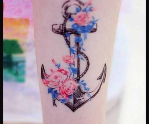 anchor, black, and blue image