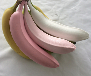 banana, pink, and food image