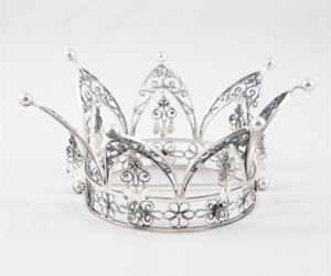 crown, aesthetic, and silver image