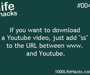 life hacks and youtube image