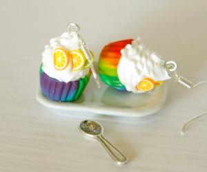 cupcake, earrings, and food image