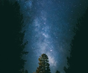 sky, stars, and space image