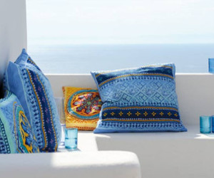 blue, summer, and pillow image