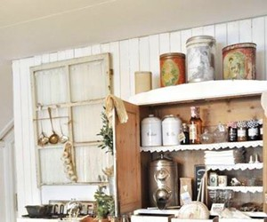 hutch, antique, and kitchen image