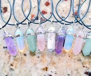 necklace, grunge, and crystals image