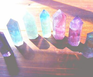 crystal, grunge, and blue image
