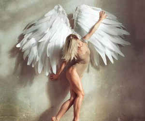 angel, artist, and wings image