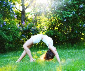 backbend, flexible, and girl image