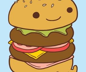 cute, burger, and food image