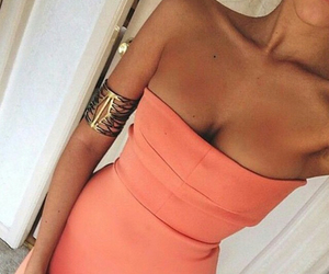 dress, orange, and summer image