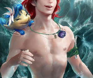 disney, art, and the little mermaid image