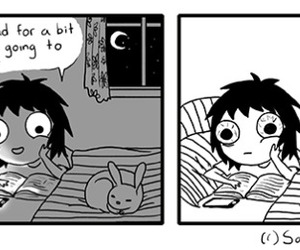 book, reading, and sarah andersen image