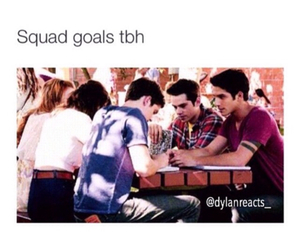 goals, squad, and teen wolf image
