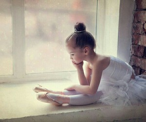 girl, thinking, and cute image