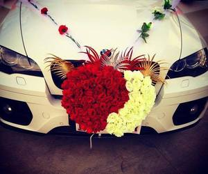 bmw, flowers, and x6 image