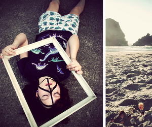 beach, body, and diptych image
